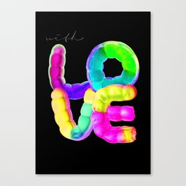 With Love, Gummyworms Typography Series Canvas Print
