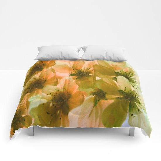 Orange Blossom Abstract Comforters