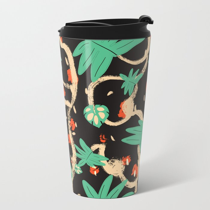 Jungle pattern Metal Travel Mug