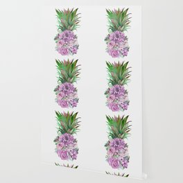 Floral Pineapple 1 Wallpaper