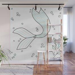 the mermaid Wall Mural