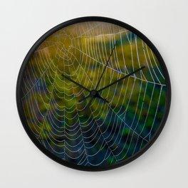 Webs of Intrigue Wall Clock