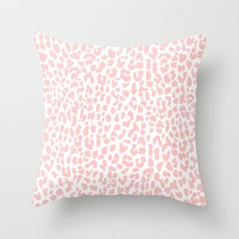 Pale Coral Leopard Throw Pillow