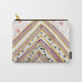 Geometrical and watercolor flowers Carry-All Pouch
