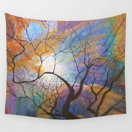 Space Tree Galaxy Painting Orion's Nebula Original Art (Dust in the Wind) Wall Tapestry
