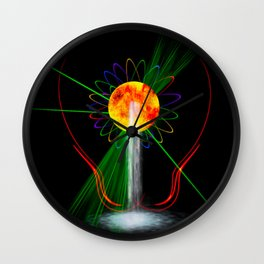 Light and water Wall Clock