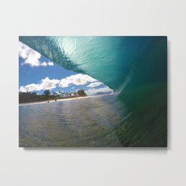 Blue Cavern - Hawaiian Wave Art Metal Print