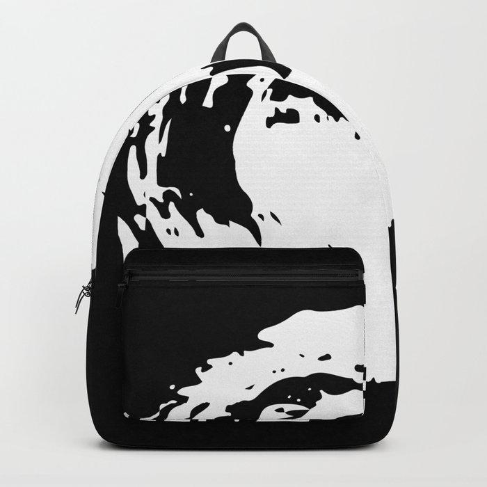 Whorl Black and White Backpack