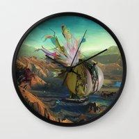 archan nair Wall Clocks featuring Dua:Talum by Archan Nair