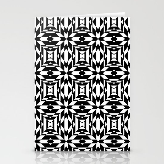 Black and White Tile Stationery Cards