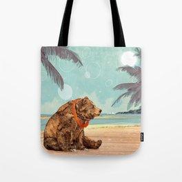 Beach Bear Tote Bag