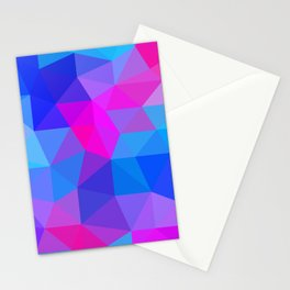 Magenta Blacklight Low Poly Stationery Cards
