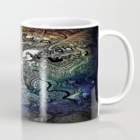swim Mugs featuring Swim by Jack Graves III