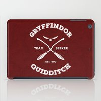 gryffindor iPad Cases featuring Gryffindor Quidditch by Sharayah Mitchell