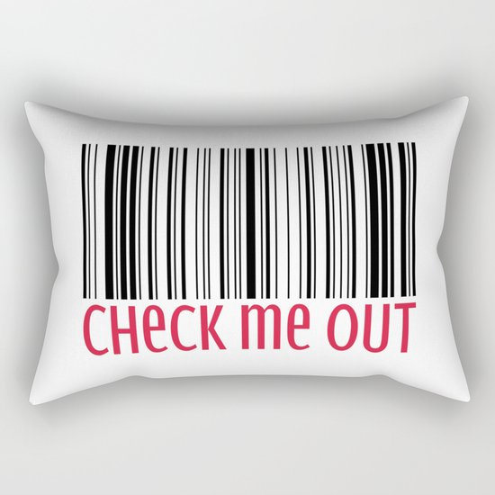 Check Me Out Funny Quote Rectangular Pillow