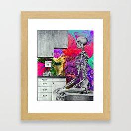wait for the doctor Framed Art Print
