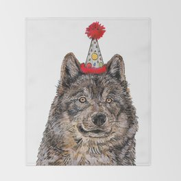Wolf Party Throw Blanket