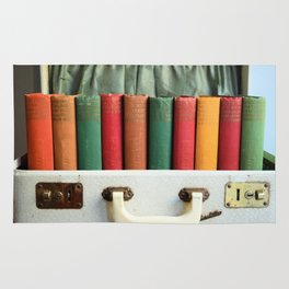 Vintage Colorful Classics in Suitcase Rug