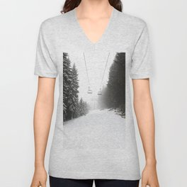 Dreaming of Skiing Unisex V-Neck