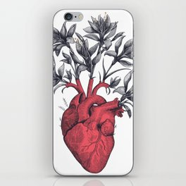 Blooming heart iPhone Skin