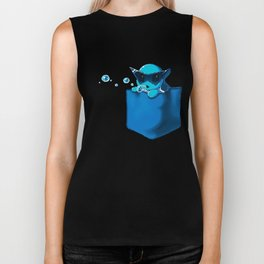 Blowing Bubble Squirtle Biker Tank