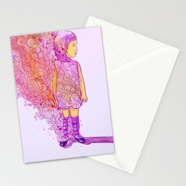 Flame doodle Stationery Cards