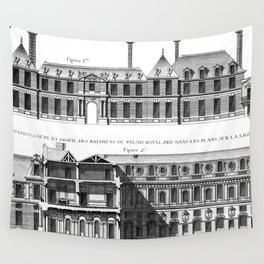 Palais-Royal on the rue St. Honoré 1754 Wall Tapestry