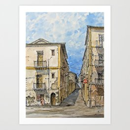 A Day in Palermo, Italy Art Print
