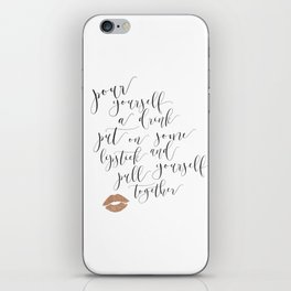 Pour Yourself a Drink... Elizabeth Taylor iPhone Skin