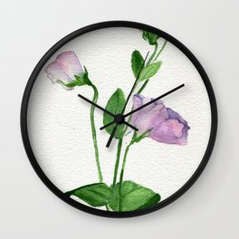 Green Weaving Wall Clock