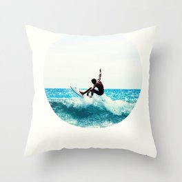 Surf Quote Throw Pillow