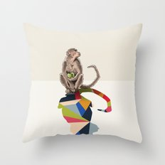Walking Shadow, Monkey Throw Pillow