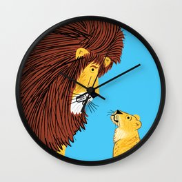 Listen To The Lion Wall Clock