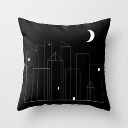 Nightowls (Ghost Town) Throw Pillow