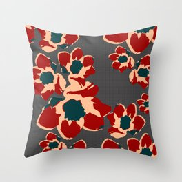 Daffy Grid Daffodils Throw Pillow