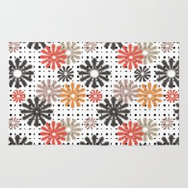 Abstraction. Colorful daisies background. Rug