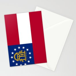 flag of the state of Georgia-Georgian,Gone with the wind,Atlanta,Colombus,Macon,Scarlett o'Hara,Usa Stationery Cards