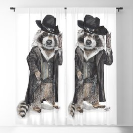 """ Raccoon Bandit "" funny western raccoon Blackout Curtain"