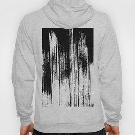 Modern black white watercolor brushstrokes pattern Hoody