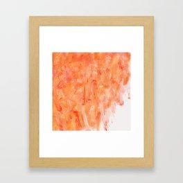 DIGITAL ORANGE Framed Art Print
