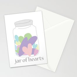 Jar of Hearts Stationery Cards