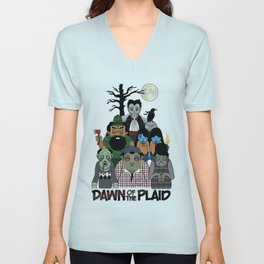Dawn of the Plaid Unisex V-Neck