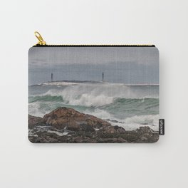 Green waves with twin lights Carry-All Pouch