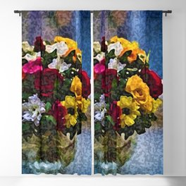 Flowers and Vase Portrait #1 - Jeanpaul Ferro Blackout Curtain
