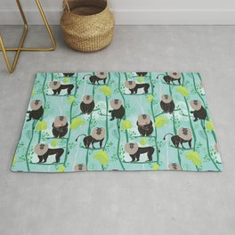 Lion tailed macaque Rug