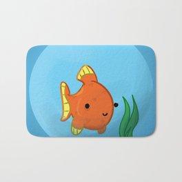 Goldfish in a bowl: Happy! Bath Mat
