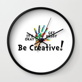 Get Messy Wall Clock