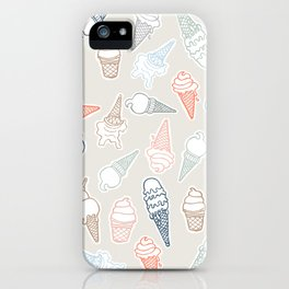 Colorful icecream for summertime iPhone Case