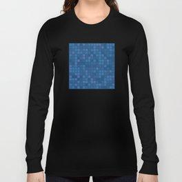 november blue geometric pattern Long Sleeve T-shirt