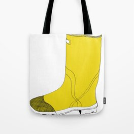 My favorite yellow boot Tote Bag